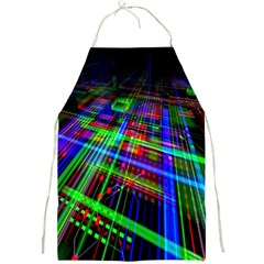 Electronics Board Computer Trace Full Print Aprons by Nexatart