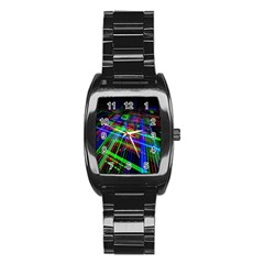 Electronics Board Computer Trace Stainless Steel Barrel Watch by Nexatart