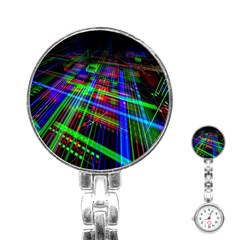 Electronics Board Computer Trace Stainless Steel Nurses Watch by Nexatart