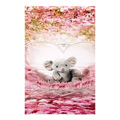 Elephant Heart Plush Vertical Toy Shower Curtain 48  X 72  (small)  by Nexatart