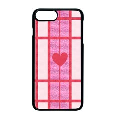 Fabric Magenta Texture Textile Love Hearth Apple iPhone 7 Plus Seamless Case (Black) by Nexatart