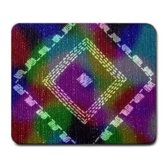 Embroidered Fabric Pattern Large Mousepads