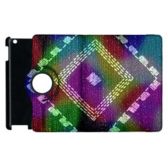Embroidered Fabric Pattern Apple Ipad 2 Flip 360 Case by Nexatart