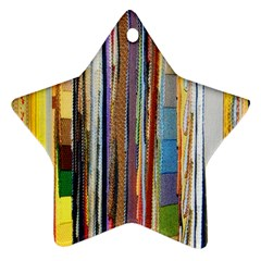 Fabric Star Ornament (two Sides) by Nexatart