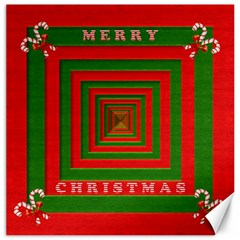 Fabric 3d Merry Christmas Canvas 20  X 20   by Nexatart