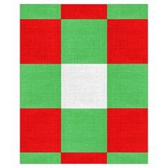 Fabric Christmas Colors Bright Drawstring Bag (Small) by Nexatart