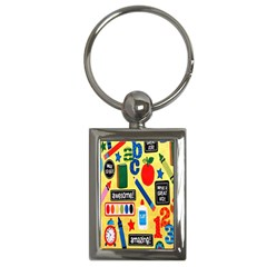 Fabric Cloth Textile Clothing Key Chains (rectangle)  by Nexatart