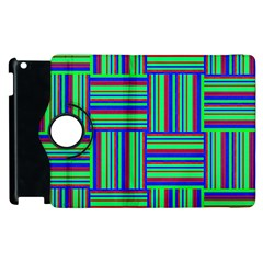 Fabric Pattern Design Cloth Stripe Apple Ipad 3/4 Flip 360 Case by Nexatart