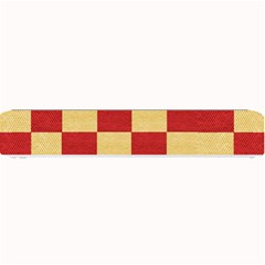Fabric Geometric Red Gold Block Small Bar Mats by Nexatart