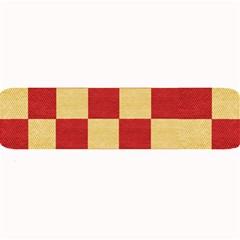 Fabric Geometric Red Gold Block Large Bar Mats by Nexatart