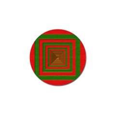 Fabric Texture 3d Geometric Vortex Golf Ball Marker (10 Pack) by Nexatart