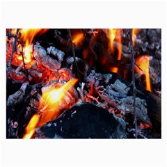 Fire Embers Flame Heat Flames Hot Large Glasses Cloth by Nexatart