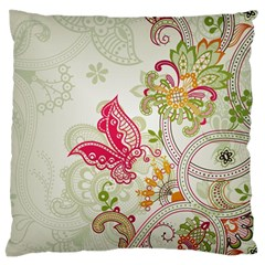 Floral Pattern Background Large Flano Cushion Case (two Sides) by Nexatart
