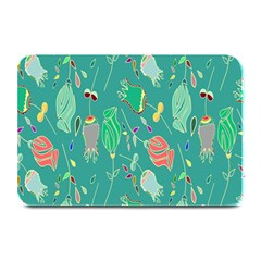 Floral Elegant Background Plate Mats by Nexatart