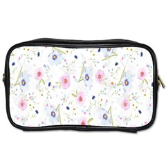 Floral Pattern Background  Toiletries Bags 2 Side by Nexatart