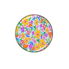 Floral Paisley Background Flower Hat Clip Ball Marker (10 Pack) by Nexatart