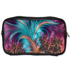 Feather Fractal Artistic Design Toiletries Bags by Nexatart