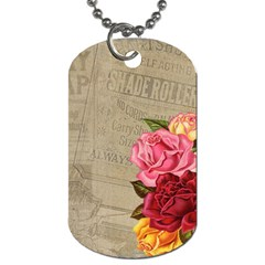 Flower Floral Bouquet Background Dog Tag (Two Sides)