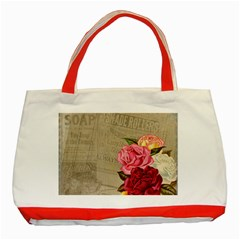 Flower Floral Bouquet Background Classic Tote Bag (Red)