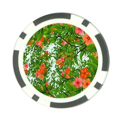 Flower Background Backdrop Pattern Poker Chip Card Guard (10 Pack) by Nexatart