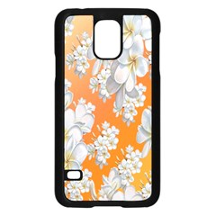Flowers Background Backdrop Floral Samsung Galaxy S5 Case (black) by Nexatart