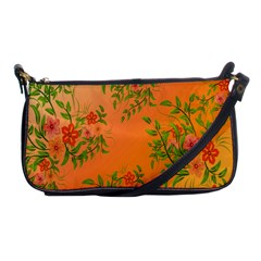 Flowers Background Backdrop Floral Shoulder Clutch Bags by Nexatart