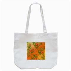 Flowers Background Backdrop Floral Tote Bag (white) by Nexatart