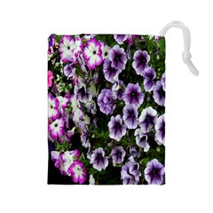Flowers Blossom Bloom Plant Nature Drawstring Pouches (large)  by Nexatart
