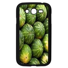 Food Summer Pattern Green Watermelon Samsung Galaxy Grand Duos I9082 Case (black) by Nexatart