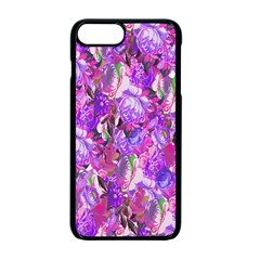 Flowers Abstract Digital Art Apple Iphone 7 Plus Seamless Case (black) by Nexatart
