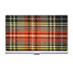 Fabric Texture Tartan Color Business Card Holders by Nexatart