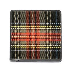 Fabric Texture Tartan Color Memory Card Reader (square) by Nexatart