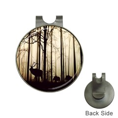 Forest Fog Hirsch Wild Boars Hat Clips With Golf Markers by Nexatart