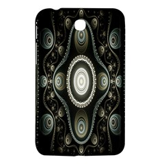 Fractal Beige Blue Abstract Samsung Galaxy Tab 3 (7 ) P3200 Hardshell Case