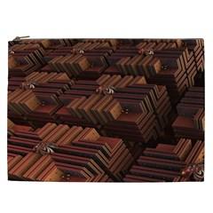Fractal 3d Render Futuristic Cosmetic Bag (xxl)  by Nexatart