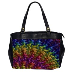 Fractal Art Design Colorful Office Handbags (2 Sides)  by Nexatart