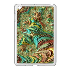 Fractal Artwork Pattern Digital Apple Ipad Mini Case (white) by Nexatart
