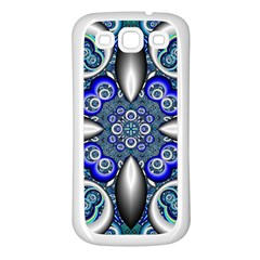 Fractal Cathedral Pattern Mosaic Samsung Galaxy S3 Back Case (white) by Nexatart
