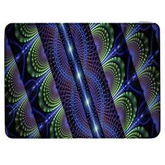 Fractal Blue Lines Colorful Samsung Galaxy Tab 7  P1000 Flip Case by Nexatart