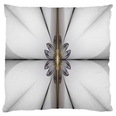 Fractal Fleur Elegance Flower Large Flano Cushion Case (two Sides) by Nexatart