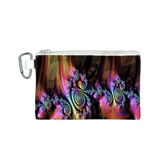 Fractal Colorful Background Canvas Cosmetic Bag (s) by Nexatart