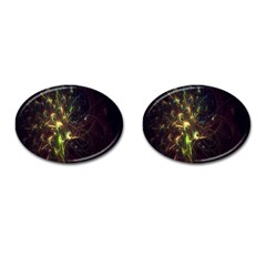Fractal Flame Light Energy Cufflinks (oval) by Nexatart