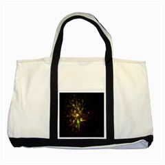 Fractal Flame Light Energy Two Tone Tote Bag by Nexatart