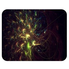 Fractal Flame Light Energy Double Sided Flano Blanket (medium)  by Nexatart