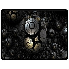 Fractal Sphere Steel 3d Structures Double Sided Fleece Blanket (large)  by Nexatart