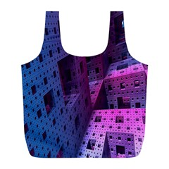Fractals Geometry Graphic Full Print Recycle Bags (l)  by Nexatart