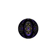 Fractal Sparkling Purple Abstract 1  Mini Buttons by Nexatart