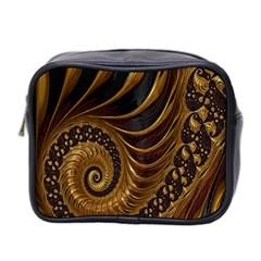 Fractal Spiral Endless Mathematics Mini Toiletries Bag 2 Side by Nexatart