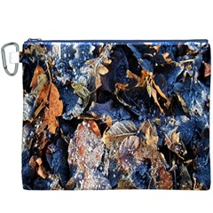 Frost Leaves Winter Park Morning Canvas Cosmetic Bag (xxxl) by Nexatart