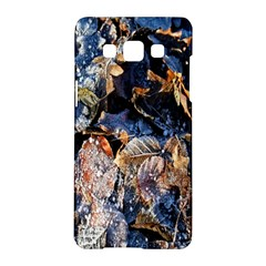 Frost Leaves Winter Park Morning Samsung Galaxy A5 Hardshell Case  by Nexatart